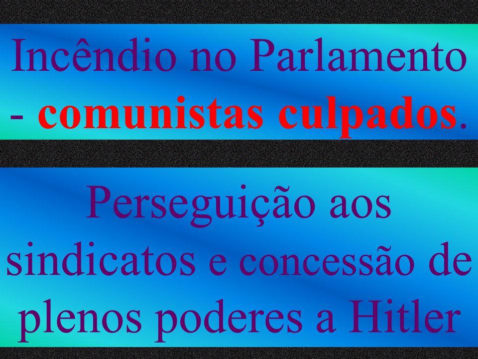 Incêndio no Parlamento - comunistas culpados.