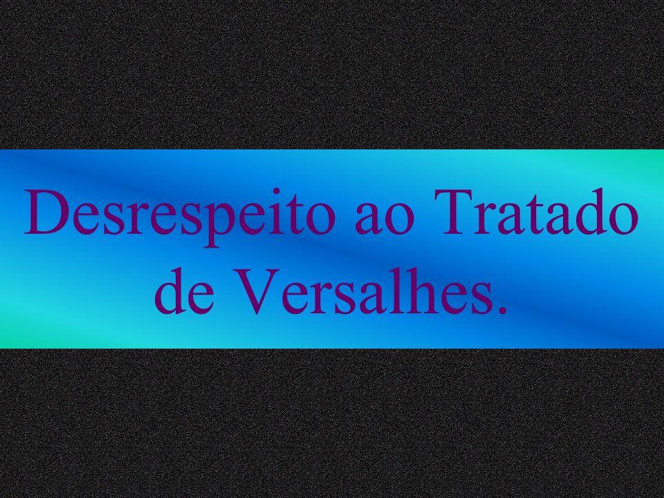 Desrespeito ao Tratado de Versalhes.