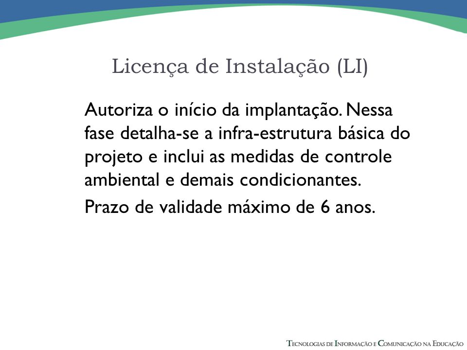 Licença de Instalação (LI)