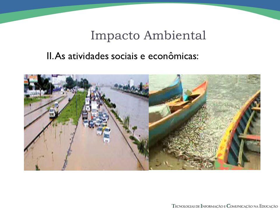 Impacto Ambiental II. As atividades sociais e econômicas: