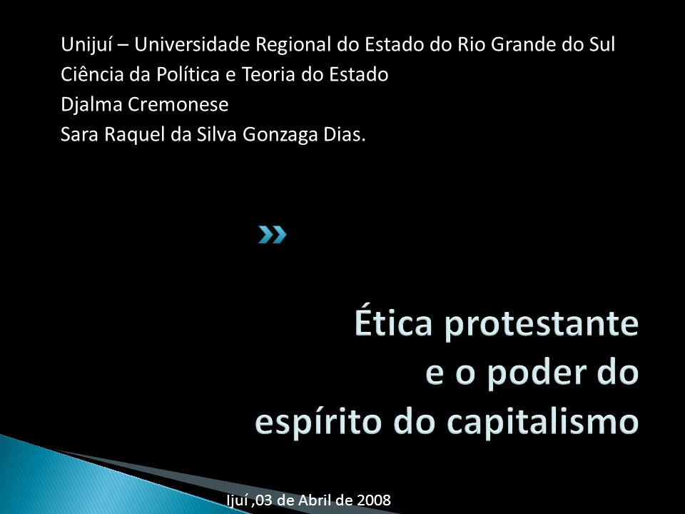 Ética protestante e o poder do espírito do capitalismo