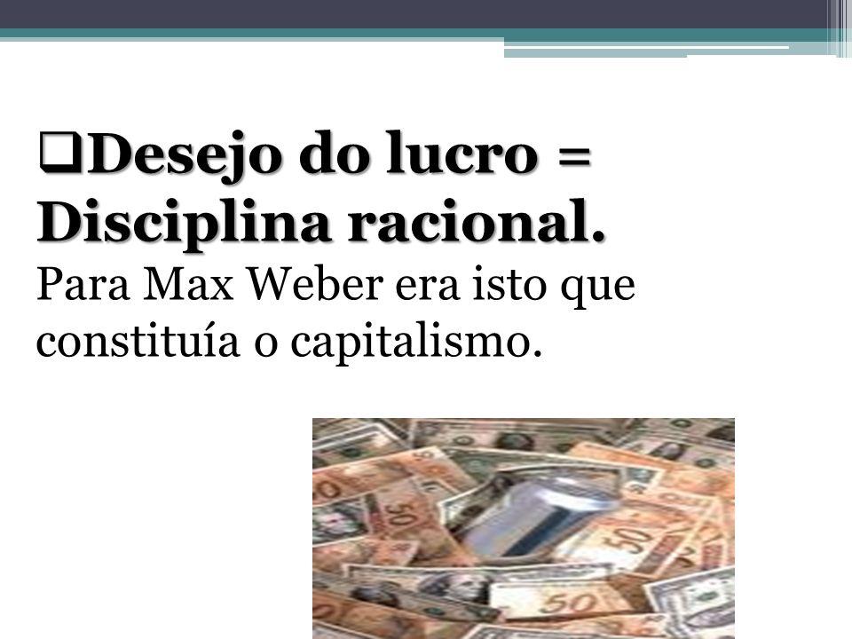 Desejo do lucro = Disciplina racional.