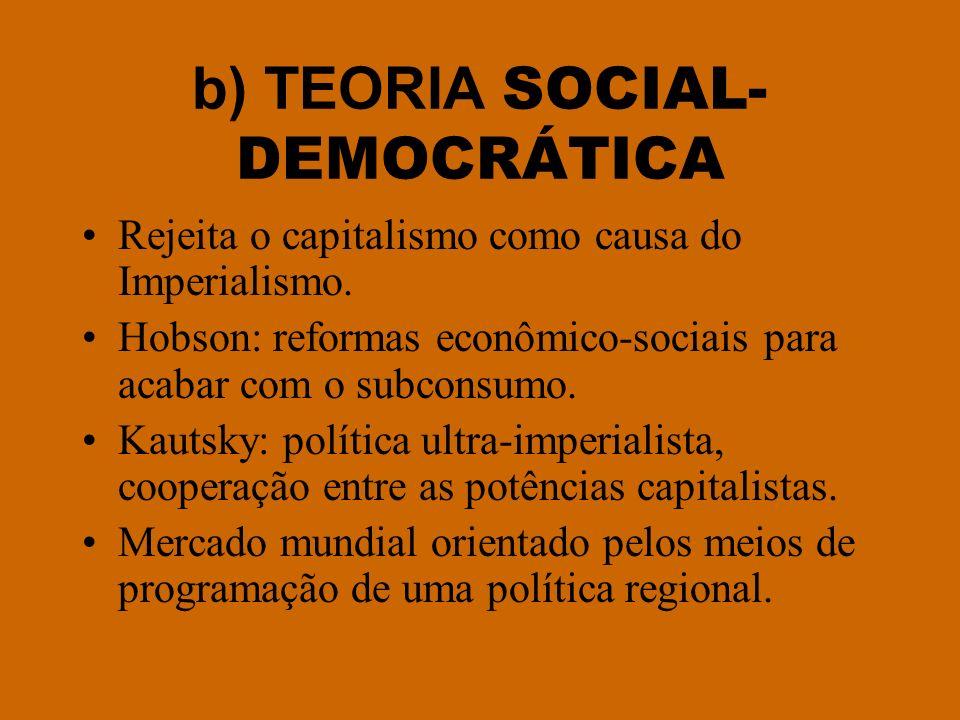 b) TEORIA SOCIAL-DEMOCRÁTICA
