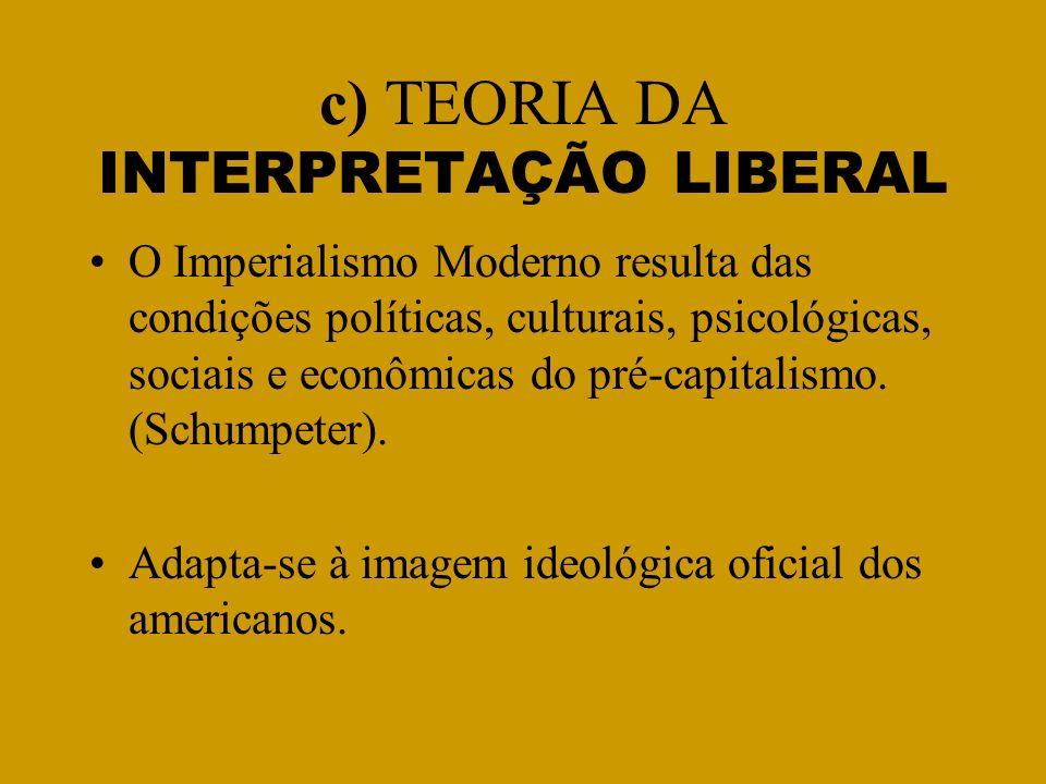 c) TEORIA DA INTERPRETAÇÃO LIBERAL