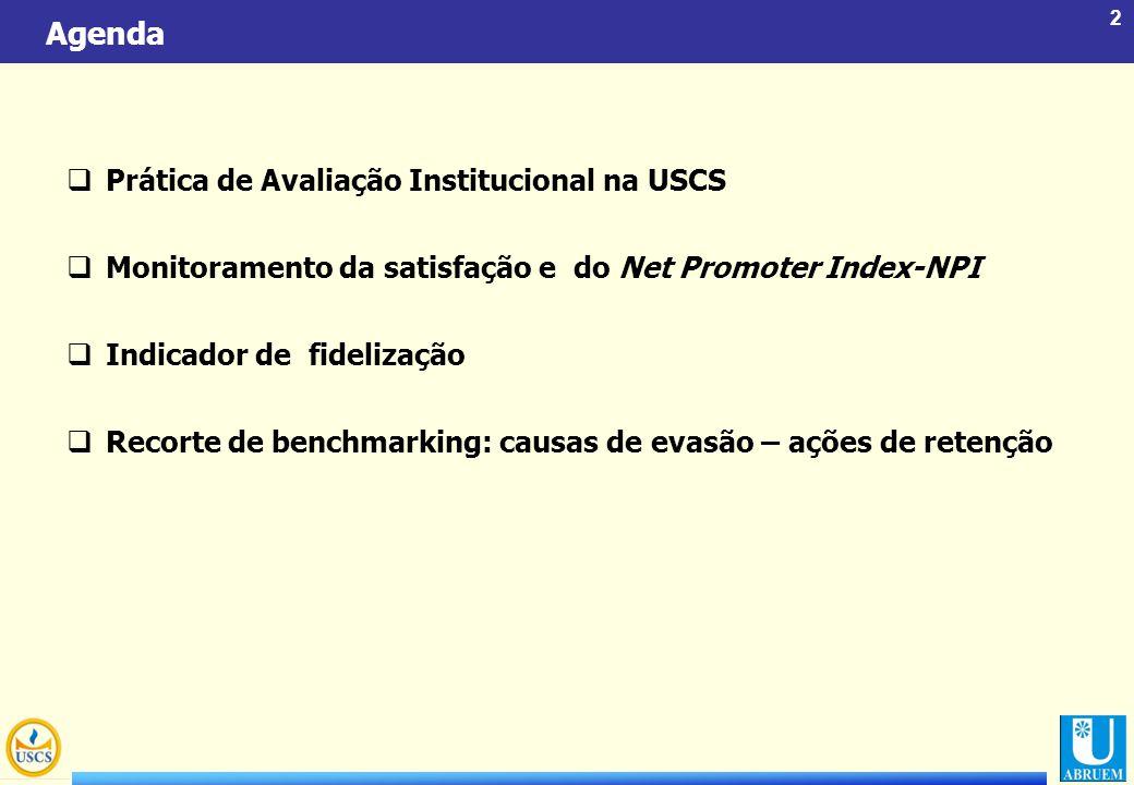 Agenda Prática de Avaliação Institucional na USCS
