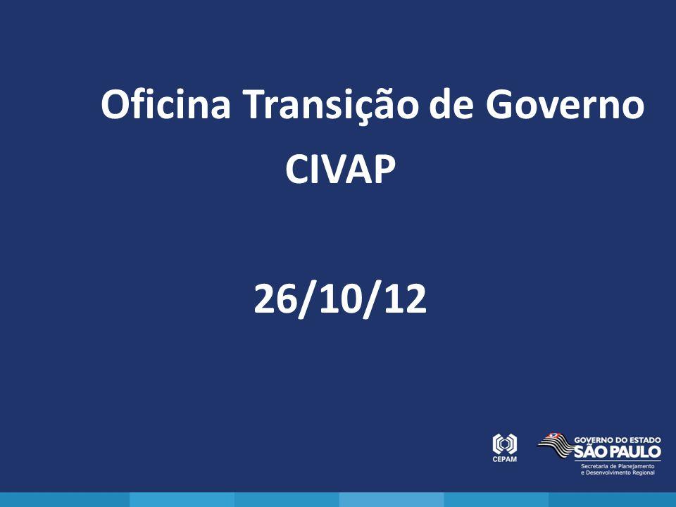 Oficina Transição de Governo