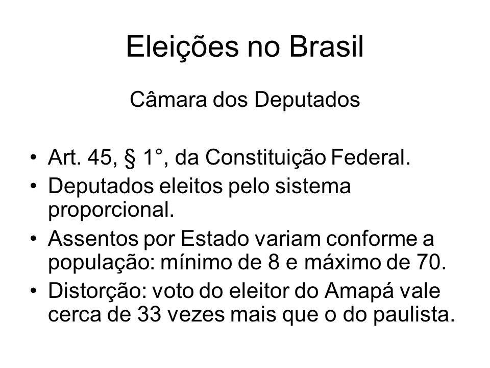 Eleições no Brasil Câmara dos Deputados