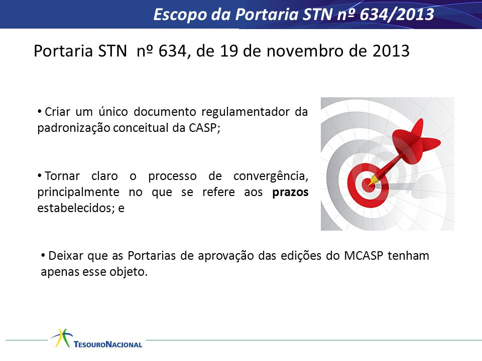 Escopo da Portaria STN nº 634/2013