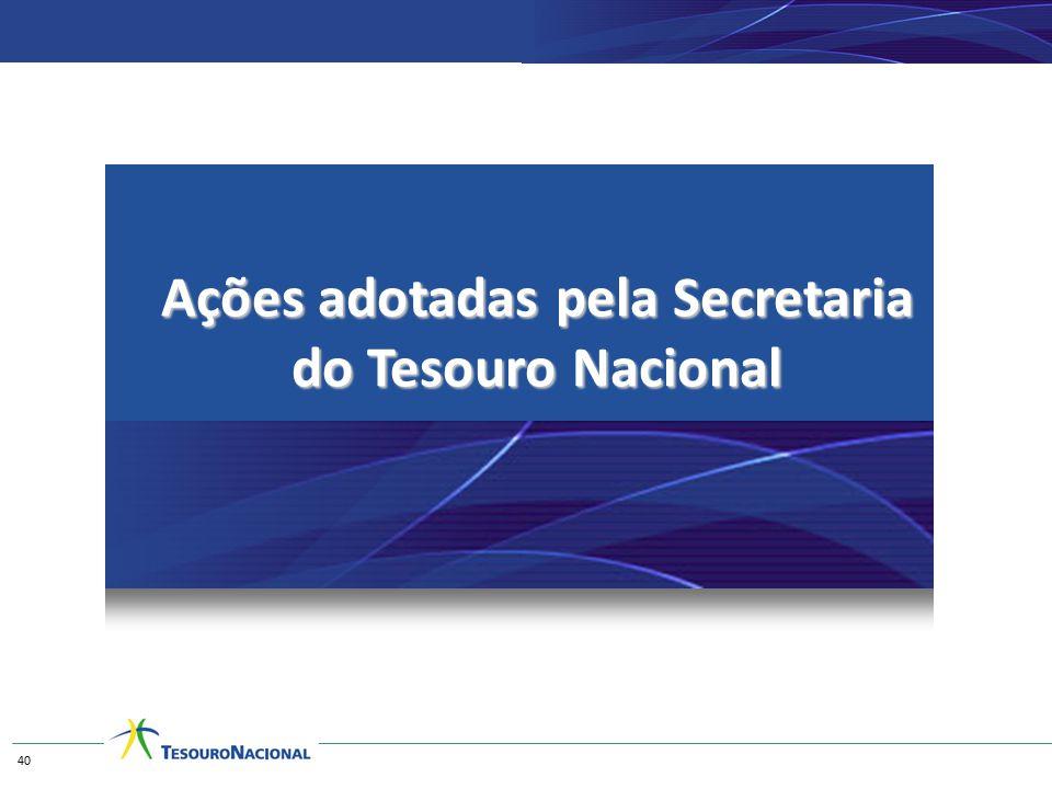 Ações adotadas pela Secretaria do Tesouro Nacional