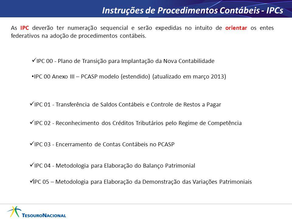 Instruções de Procedimentos Contábeis - IPCs