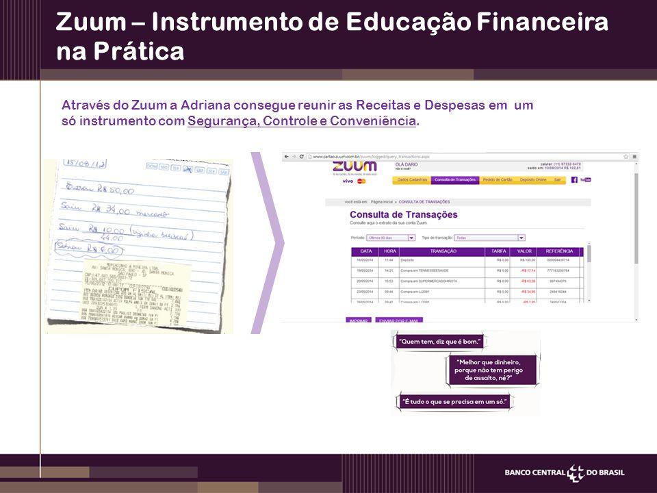 Zuum – Instrumento de Educação Financeira na Prática