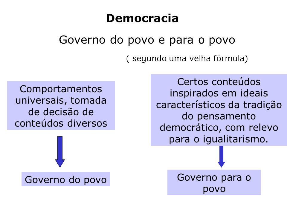 Governo do povo e para o povo