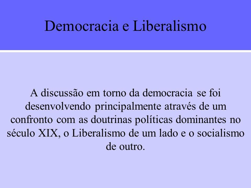 Democracia e Liberalismo