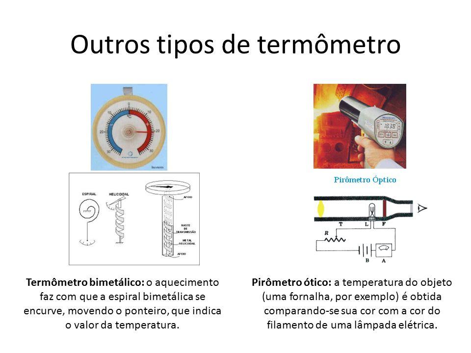 Outros tipos de termômetro