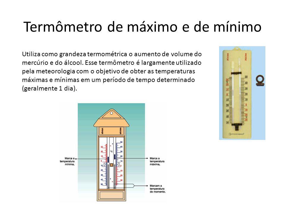 Termômetro de máximo e de mínimo