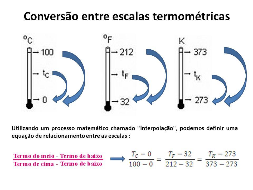 Conversão entre escalas termométricas