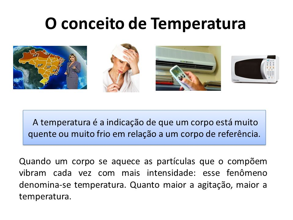 O conceito de Temperatura