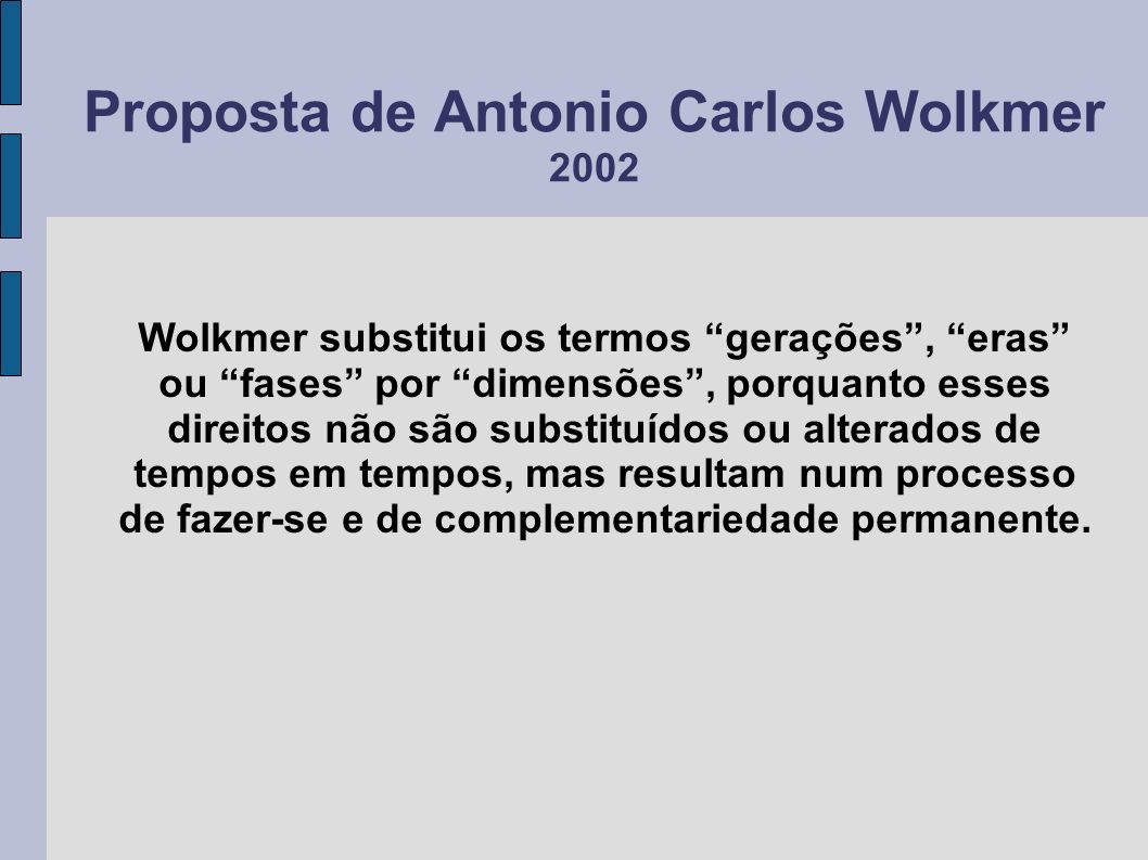 Proposta de Antonio Carlos Wolkmer 2002