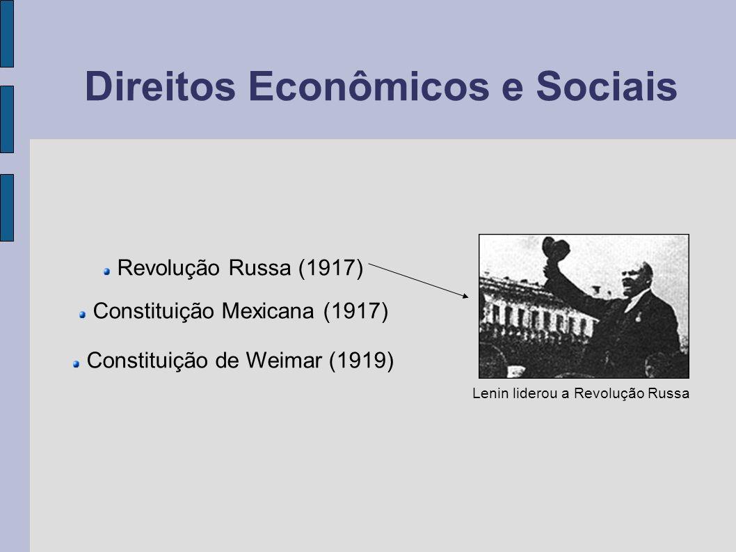Direitos Econômicos e Sociais