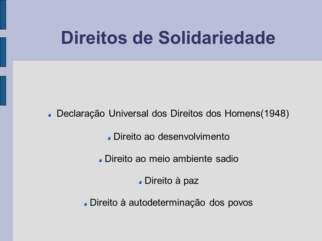 Direitos de Solidariedade