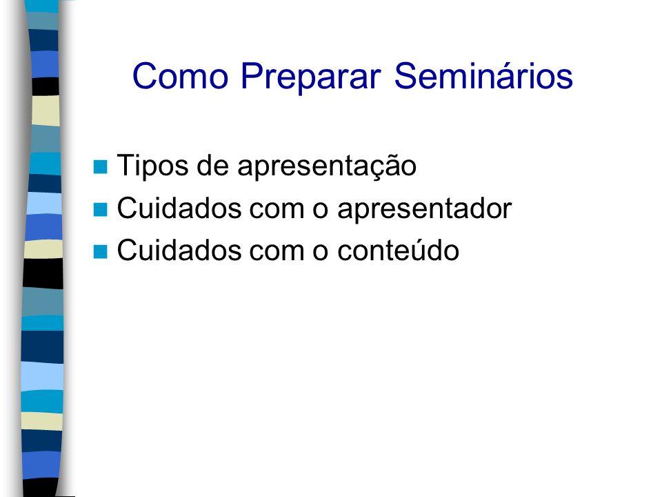 Como Preparar Seminários