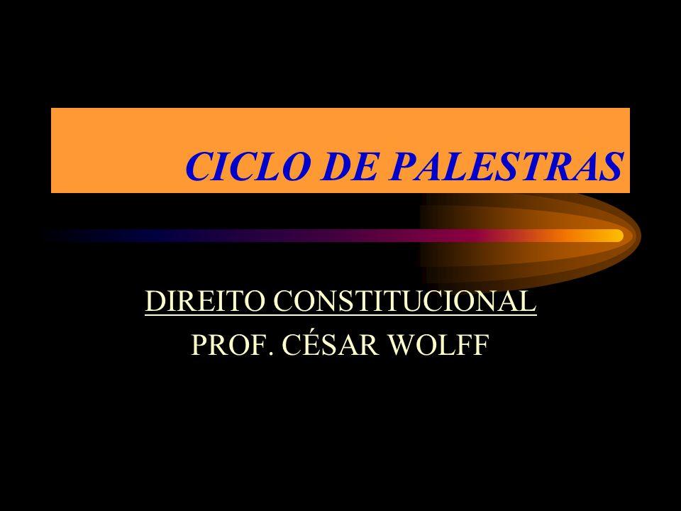 DIREITO CONSTITUCIONAL PROF. CÉSAR WOLFF