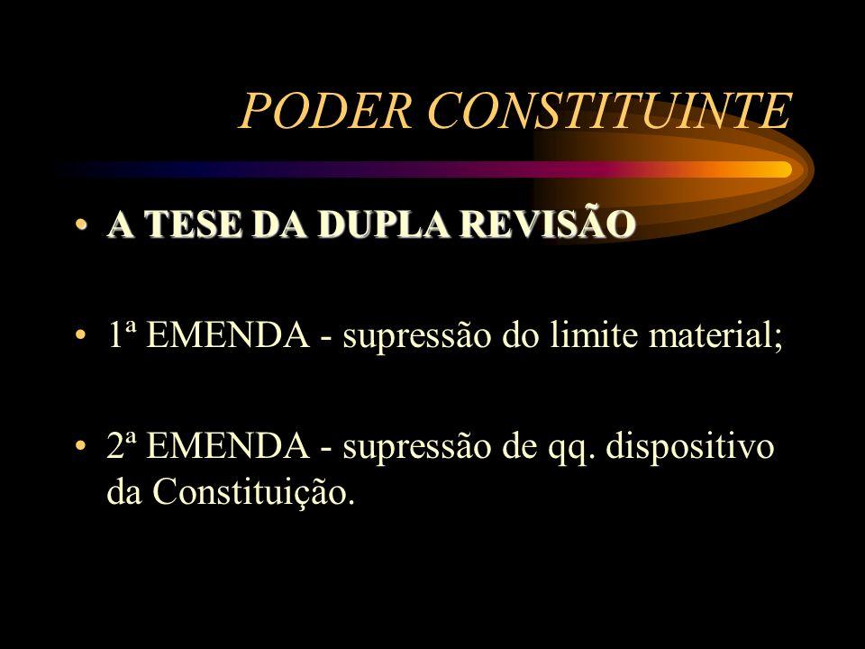 PODER CONSTITUINTE A TESE DA DUPLA REVISÃO