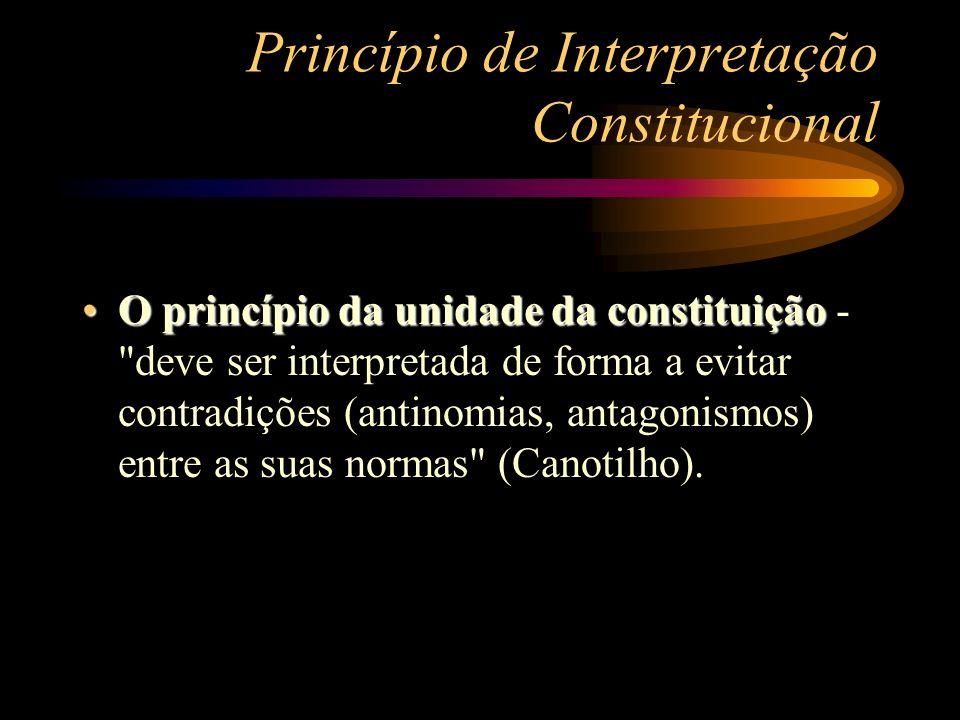 Princípio de Interpretação Constitucional