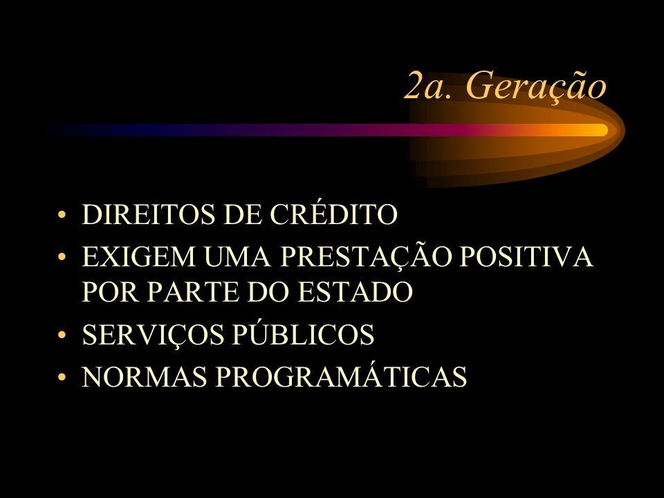 2a. Geração DIREITOS DE CRÉDITO