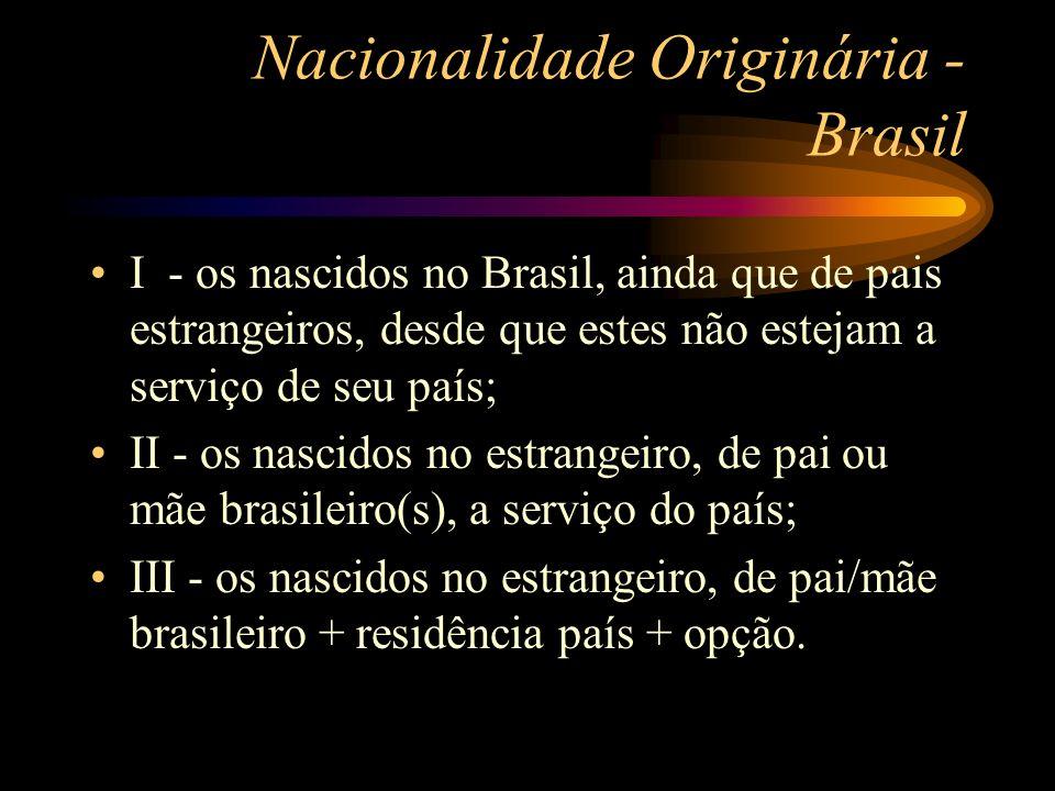 Nacionalidade Originária - Brasil