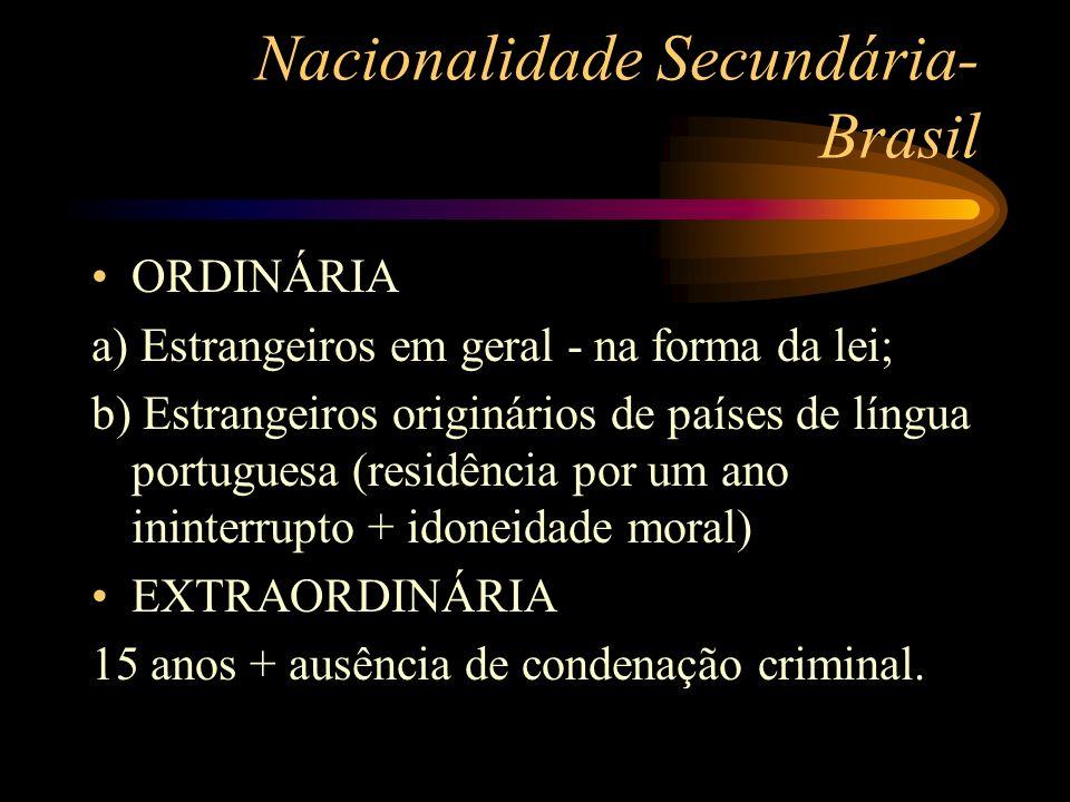 Nacionalidade Secundária- Brasil