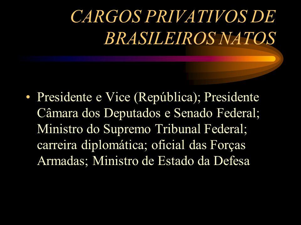 CARGOS PRIVATIVOS DE BRASILEIROS NATOS