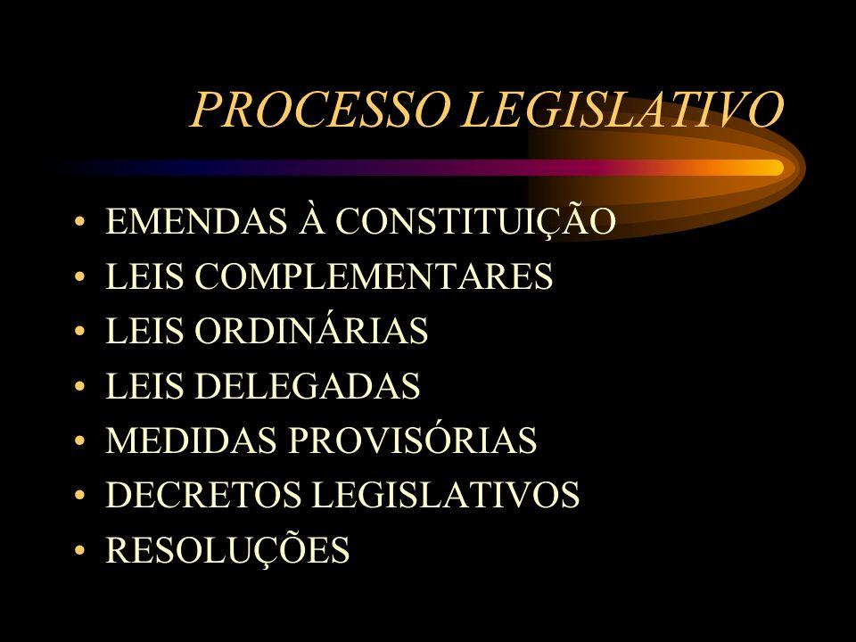 PROCESSO LEGISLATIVO EMENDAS À CONSTITUIÇÃO LEIS COMPLEMENTARES