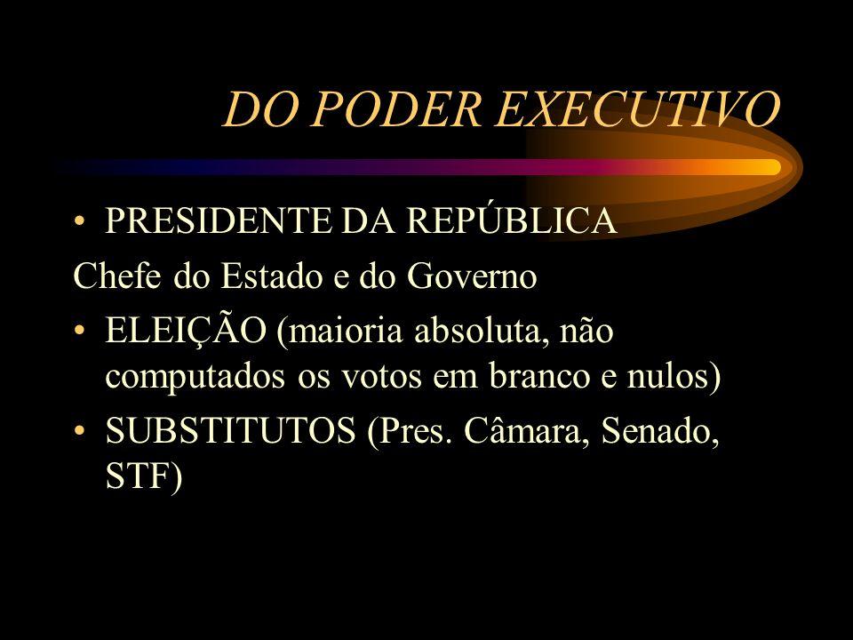 DO PODER EXECUTIVO PRESIDENTE DA REPÚBLICA