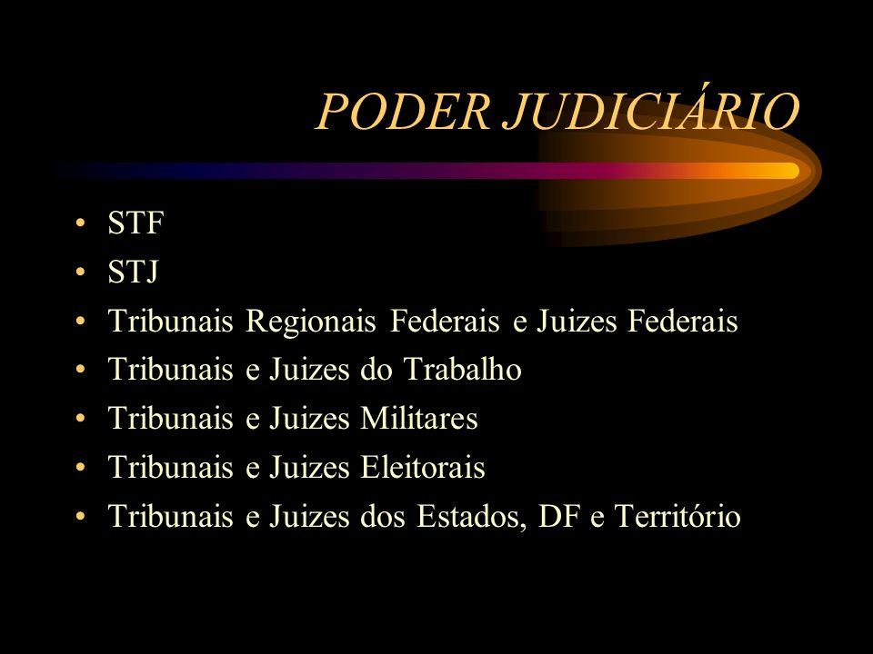 PODER JUDICIÁRIO STF STJ