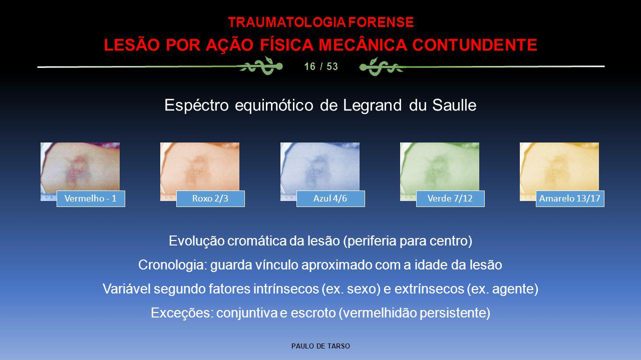 TRAUMATOLOGIA FORENSE LESÃO POR AÇÃO FÍSICA MECÂNICA CONTUNDENTE