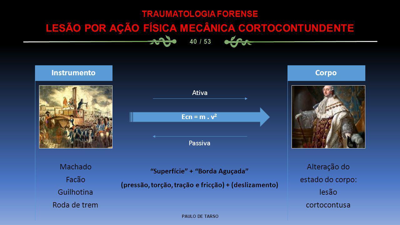 LESÃO POR AÇÃO FÍSICA MECÂNICA CORTOCONTUNDENTE