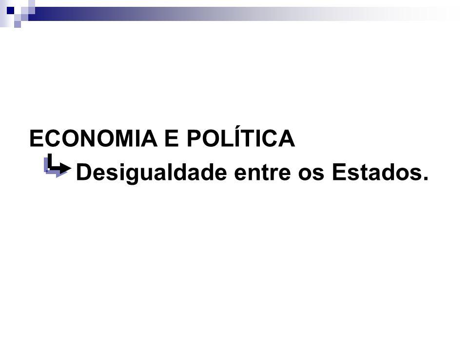 ECONOMIA E POLÍTICA Desigualdade entre os Estados.