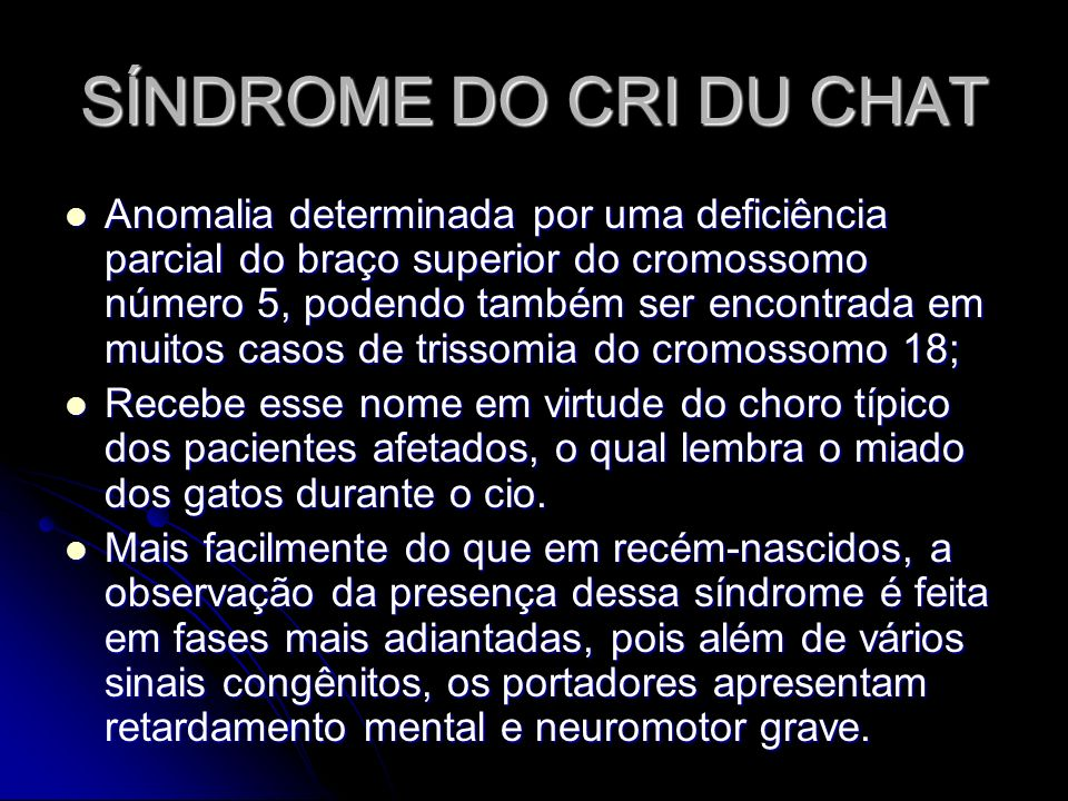 SÍNDROME DO CRI DU CHAT