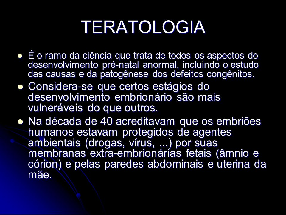 TERATOLOGIA