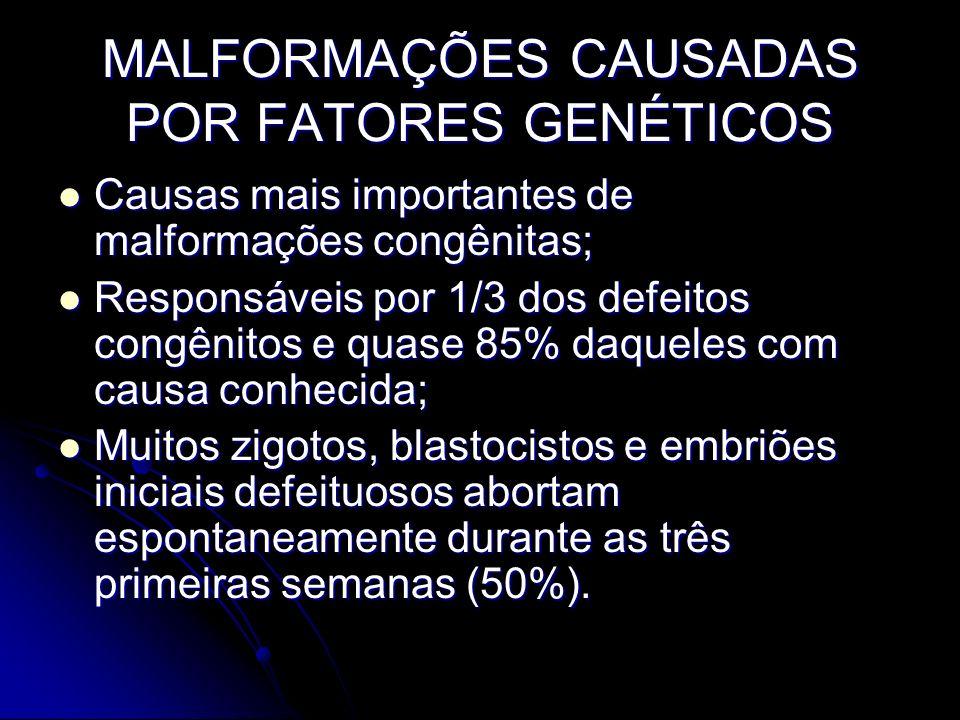 MALFORMAÇÕES CAUSADAS POR FATORES GENÉTICOS