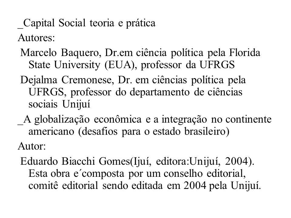 _Capital Social teoria e prática