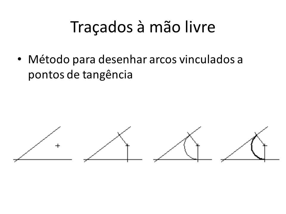 Traçados à mão livre Método para desenhar arcos vinculados a pontos de tangência