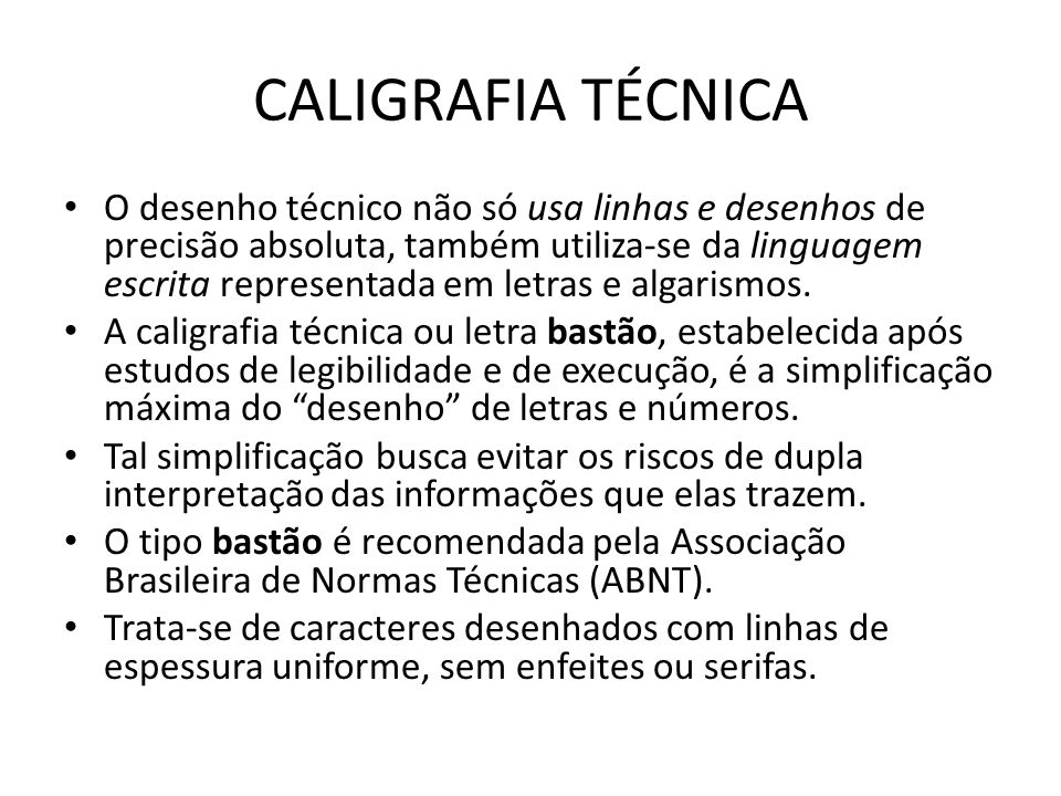 CALIGRAFIA TÉCNICA
