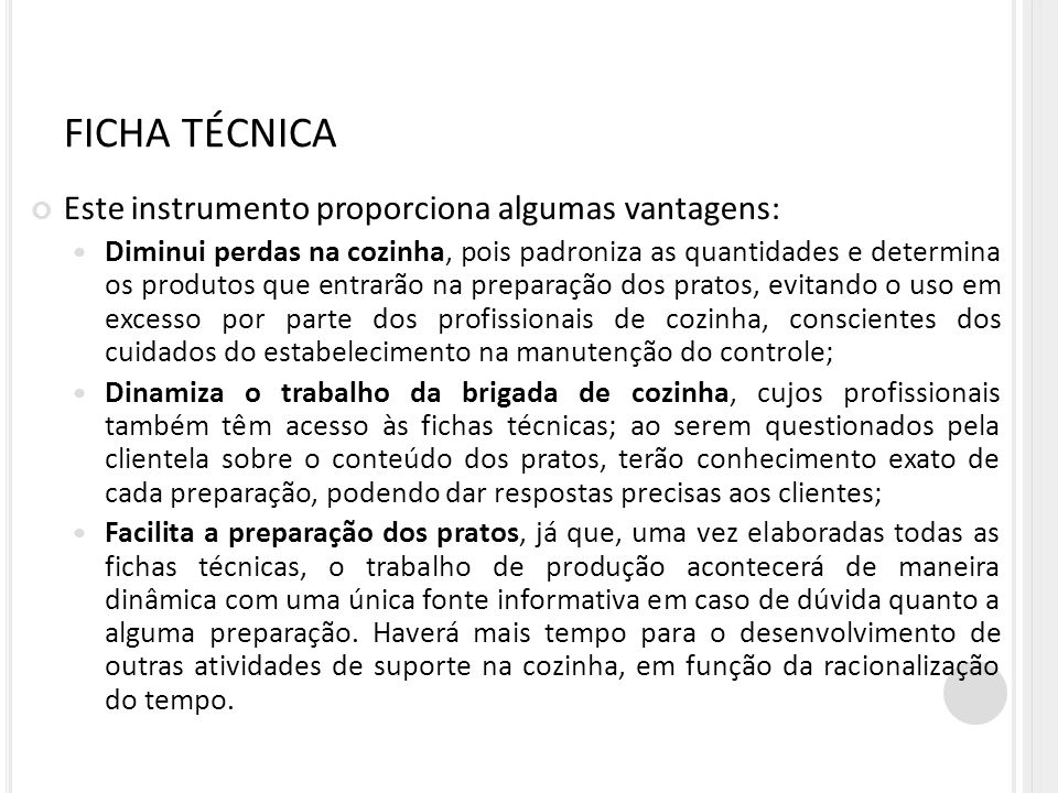 FICHA TÉCNICA Este instrumento proporciona algumas vantagens:
