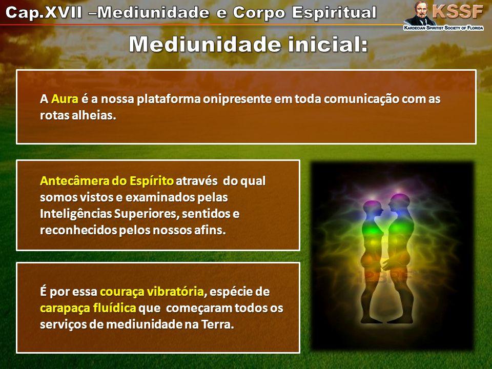 Mediunidade inicial: Cap.XVII –Mediunidade e Corpo Espiritual
