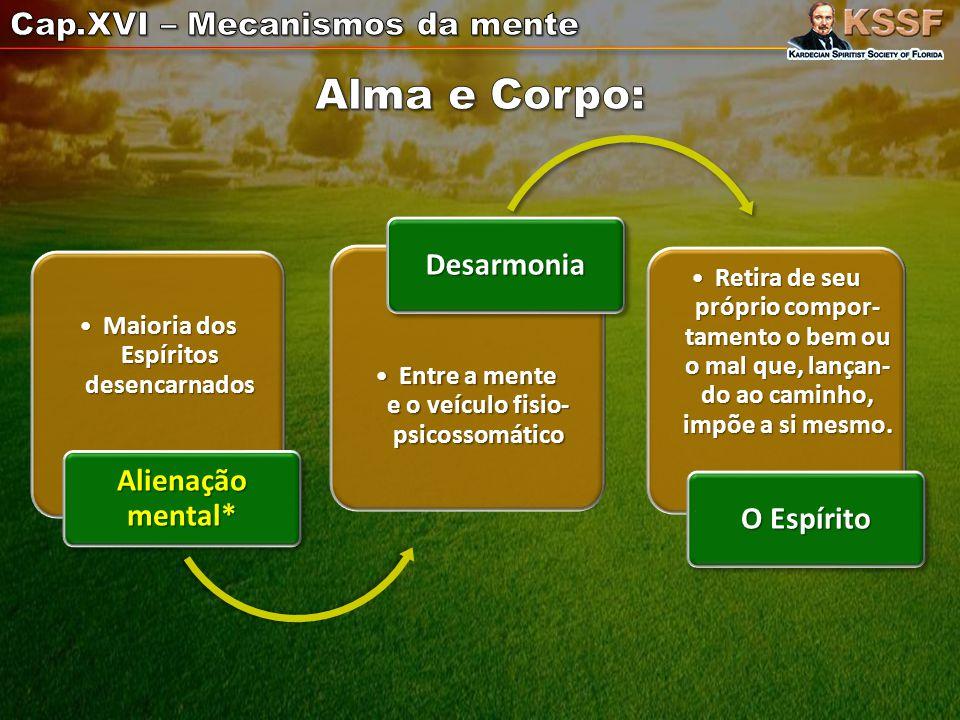 Alma e Corpo: Cap.XVI – Mecanismos da mente Desarmonia