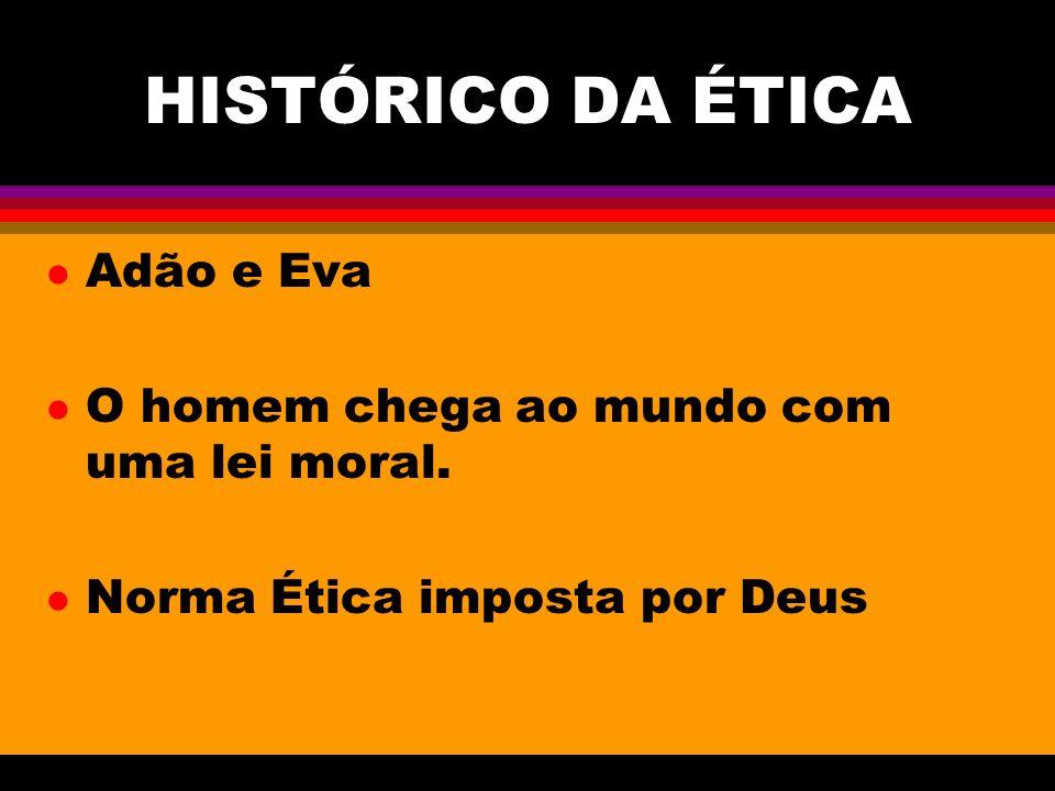 HISTÓRICO DA ÉTICA Adão e Eva