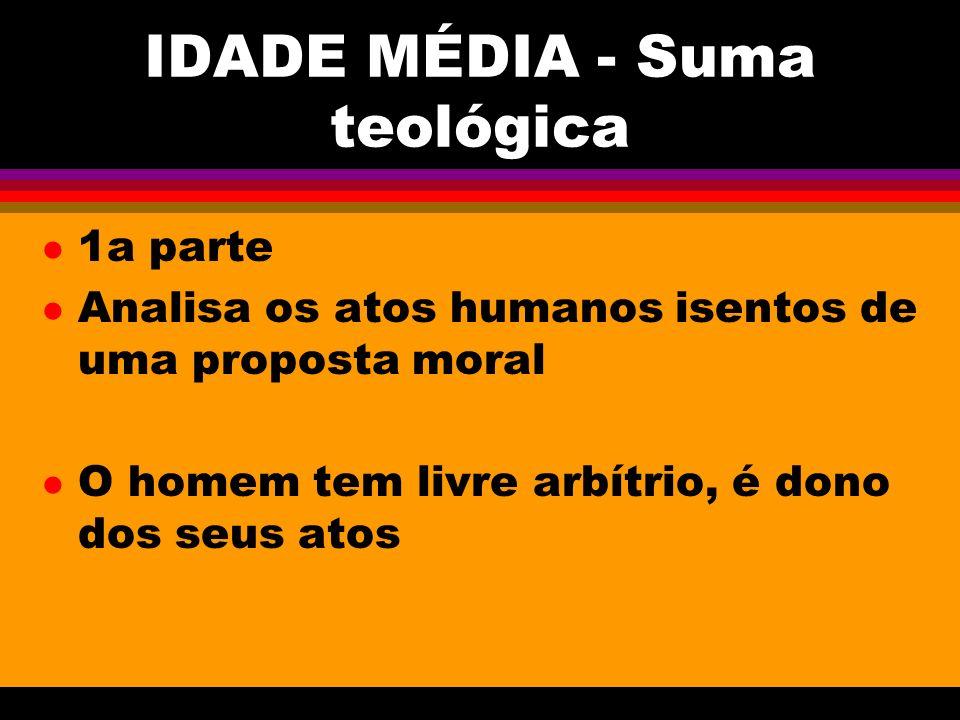 IDADE MÉDIA - Suma teológica