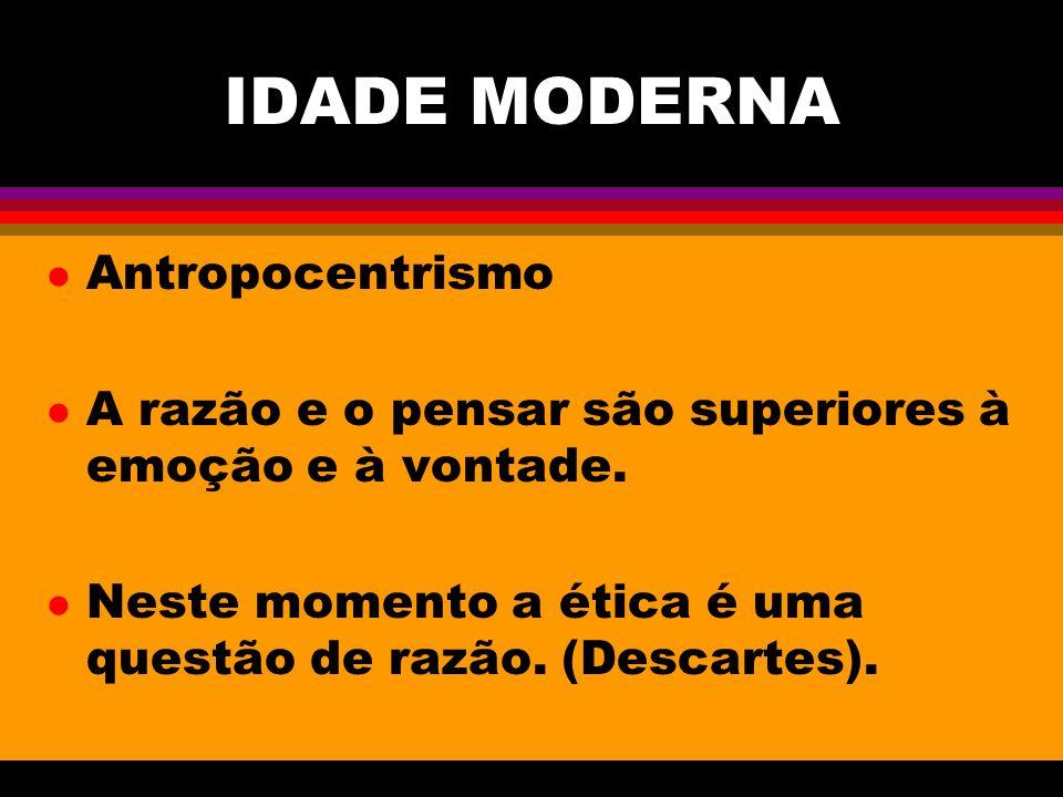 IDADE MODERNA Antropocentrismo